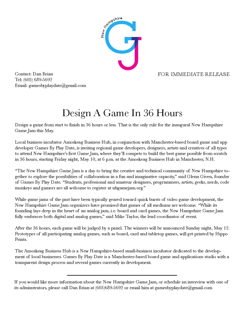 NHgameJamPressRelease